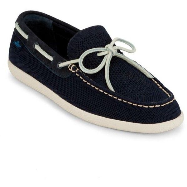 G.H. Bass & Co.  Walker Boat Shoe ($90) ❤ liked on Polyvore featuring men's fashion, men's shoes, men's loafers, navy, mens boat shoes, navy blue mens shoes, mens deck shoes, mens breathable shoes and sperry top sider mens shoes