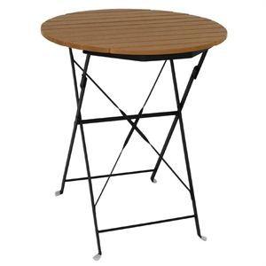 Mesa redonda plegable imitación madera Bolero