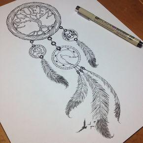 Dreamcatcher Tattoo von somatic7.devianta … auf @deviantART