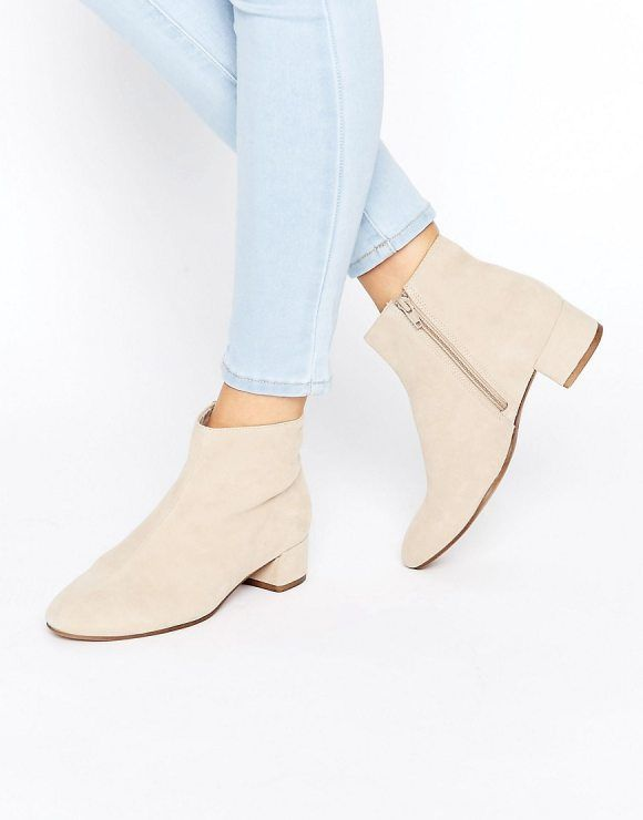 Jamilla Beige Suede Ankle Boots by