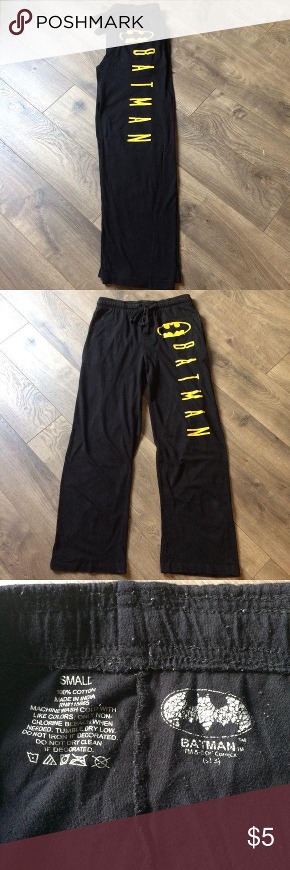 Black Batman Sweat Pants Comfy, 100% cotton, baggy black sweats for the Batman fan. Elastic & draw tie waist. Pants Track Pants & Joggers
