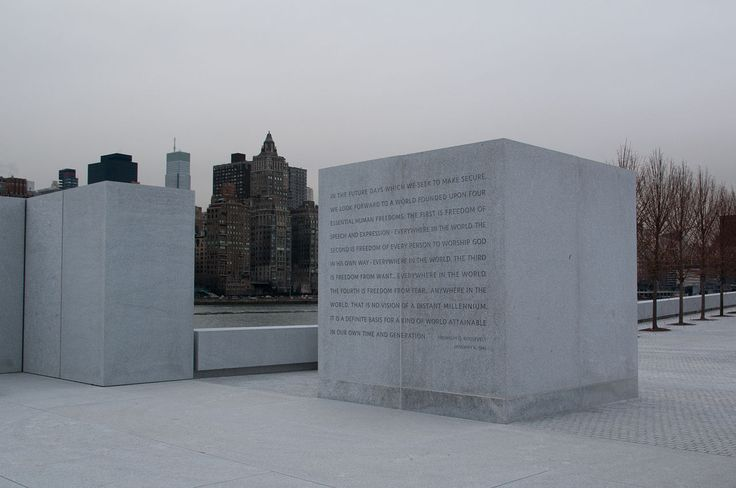 Four Freedoms Park - FDR quote - Franklin D. Roosevelt Four Freedoms Park - Wikipedia, the free encyclopedia