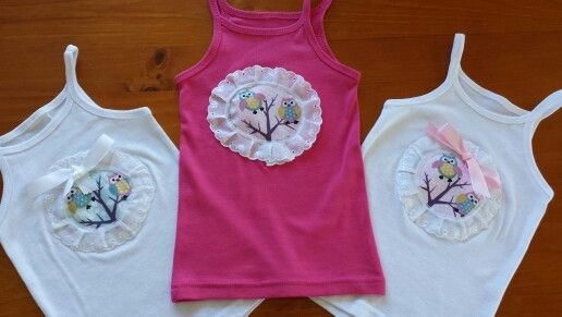 Girls Owl Tops