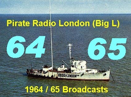 Pirate Radio London (Big L) 1964 / 65 Broadcast(MP3 CD) Pirate Radio London Big L - broadcast on 266 meters medium wave from the `Galaxy` off the coast of Walton -0n Naze between December 1964 to August 1967.    The CD runs for approx. 6 hours - this CD is in a series of Radio London broadcasts from 1964 to 1967 click here for details http://nostalgiastore.co.uk/?-b-offshore-pirate-radio-b-,80