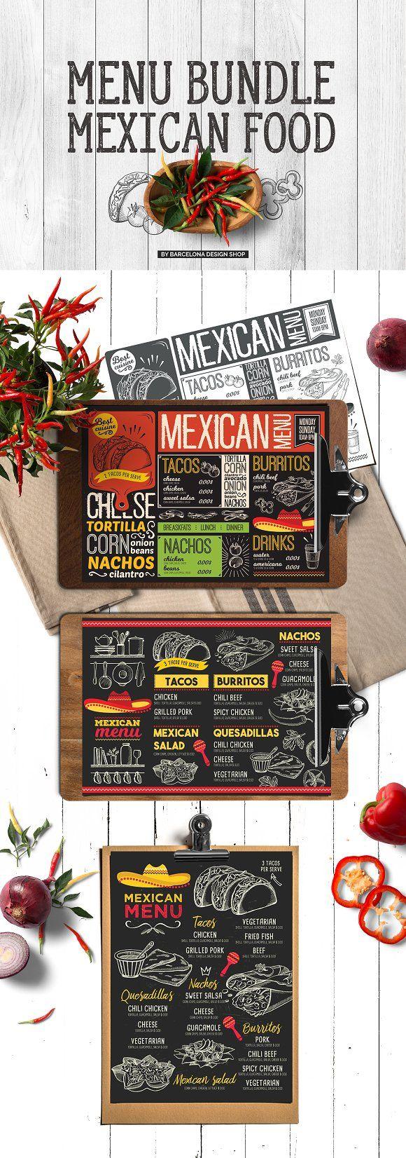 Mexican Food Menu Bundle by BarcelonaShop on @creativemarket