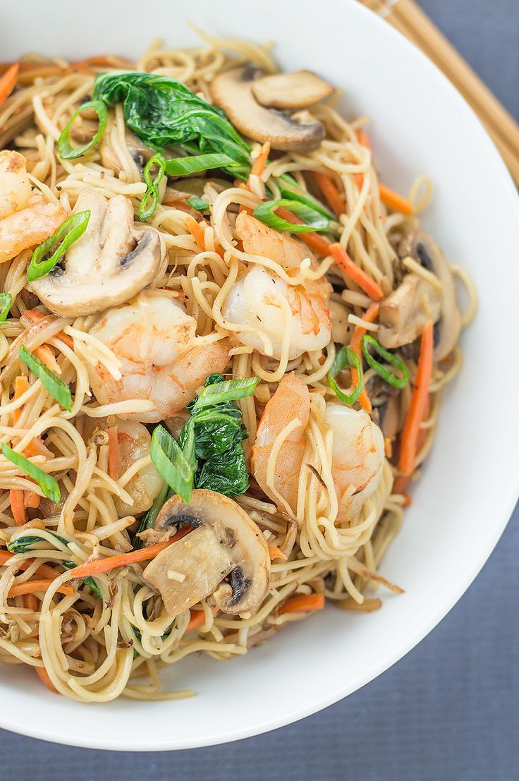 I Whipped Up Some Easy Stir Fried Chinese Noodles With Shrimp The Other  Nightu2026 And