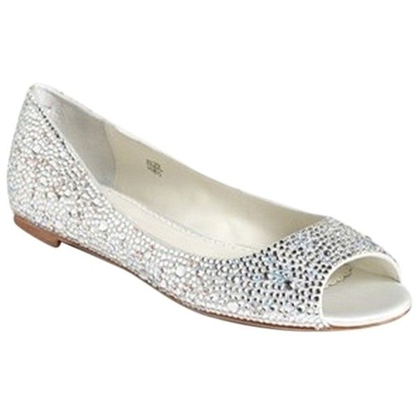 Marvelous Pre Owned Benjamin Adams Silver Wedding Sparkle Flats ($187) ❤ Liked On  Polyvore Awesome Ideas