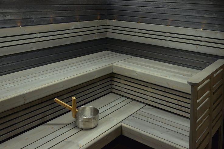saunan lauteet | Saunapaketti Wicco Sauna Primus 6.3 L-lauteella 5,8m2 2400/1950 mm