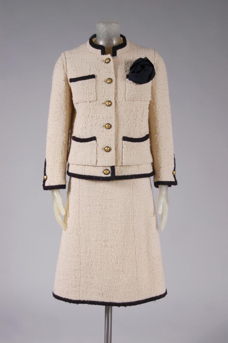 Philadelphia Museum of Art - Collections Object : Woman's Suit: Jacket and Skirt designed by Coco Chanel, 1965