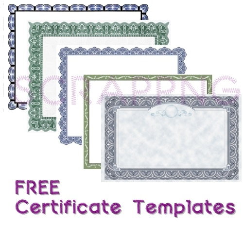Certificate Templates Collection Lot of 5 - It's Free! : ScrapPNG, Transparent PNG Graphics
