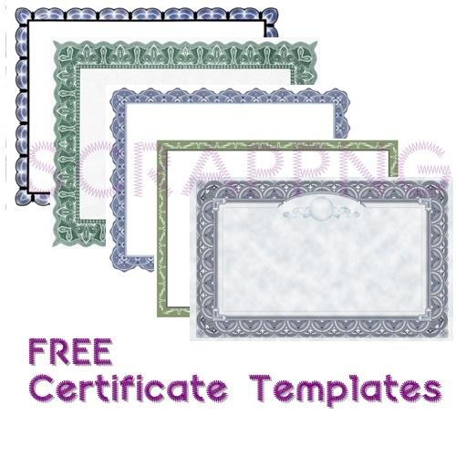 free art certificate templates