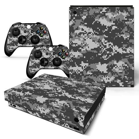 Faceplates, Decals & Stickers Video Game Accessories Xbox One X Camo 4 Skin Sticker Console Decal Vinyl Xbox Controller