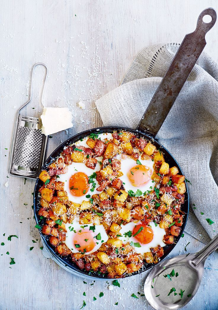 Feeling fragile? Throw together this revamped fry-up for when you need food on the table fast.