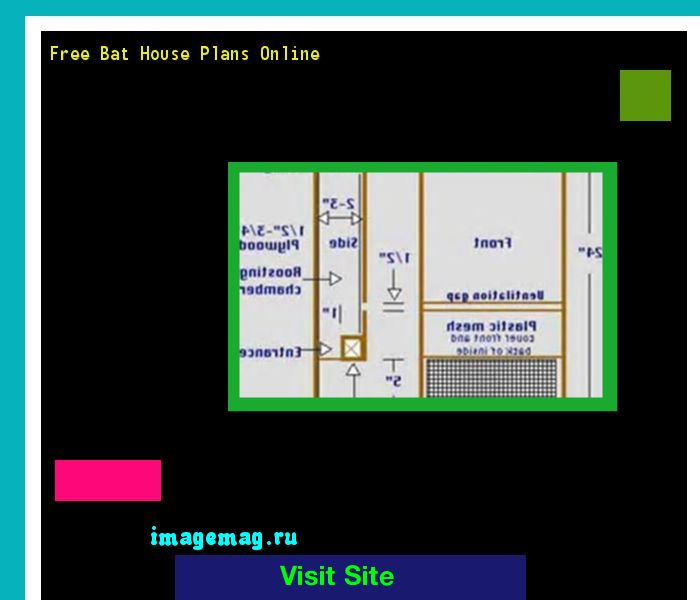 Free Bat House Plans Online 203622 - The Best Image Search