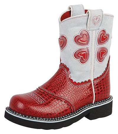 Ariat Kid's Boots Fatbaby Hearts Style   http://www.onlinebootstore.com/Merchant2/merchant.mvc?Screen=PROD_Code=obs_Code=A10001964_Code=AriatYouth