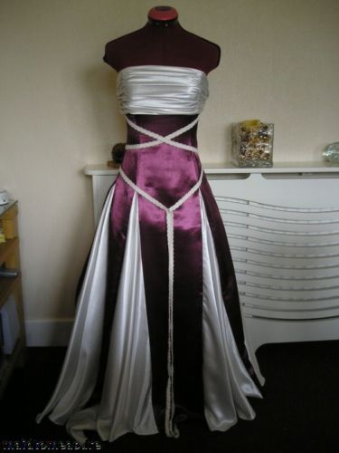 MEDIEVAL PAGAN WEDDING HANDFASTING DRESS WINE / BURGUNDY CREAM/IVORY CUSTOM MADE | eBay