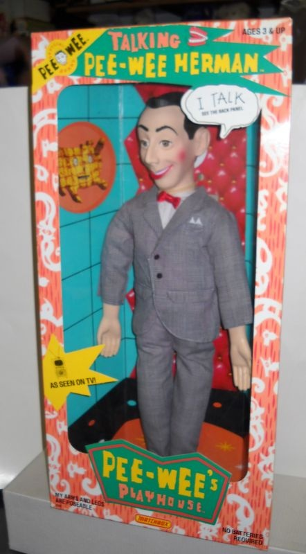 talking pee wee herman doll unfortunately you talk really fast now oh pee wee. Black Bedroom Furniture Sets. Home Design Ideas