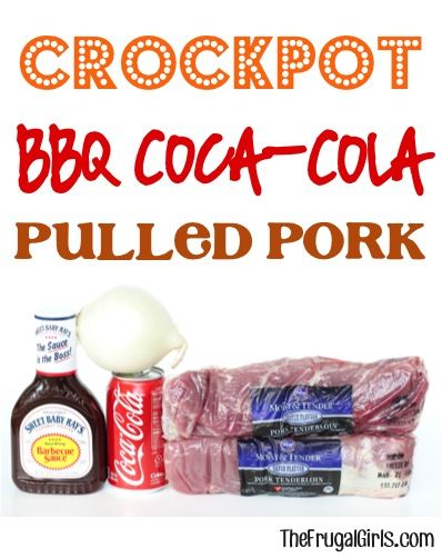 Crockpot BBQ Coca-Cola Pulled Pork Recipe! ~ from TheFrugalGirls.com ~ this easy barbecue Slow Cooker dinner will hit the spot!