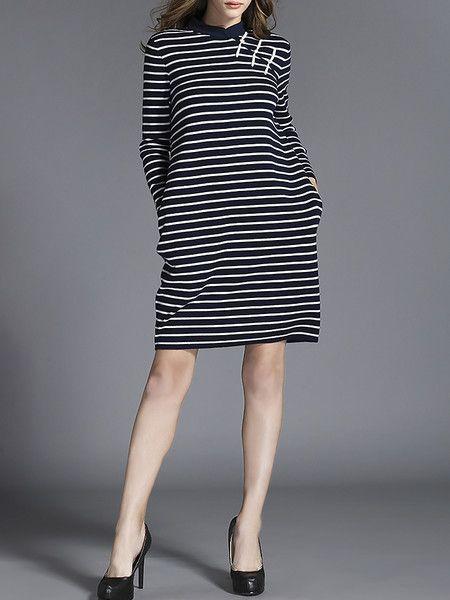 Printed Wool Knitting Mini Dress