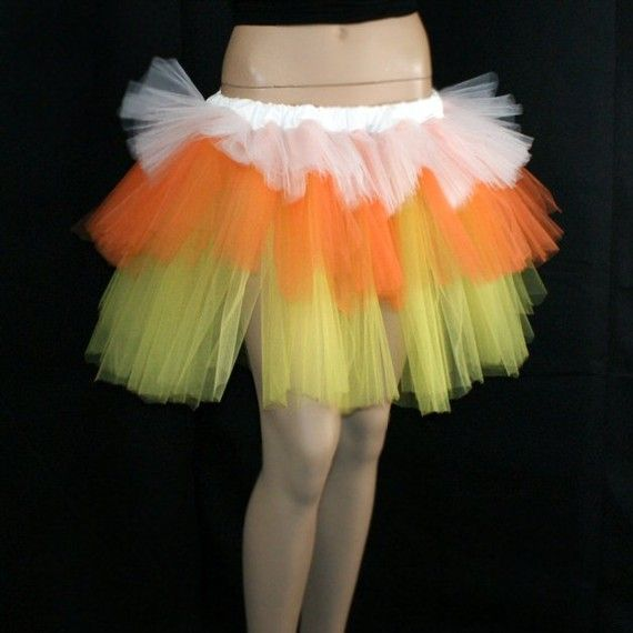 Candy Corn Costume Layered TuTu $35