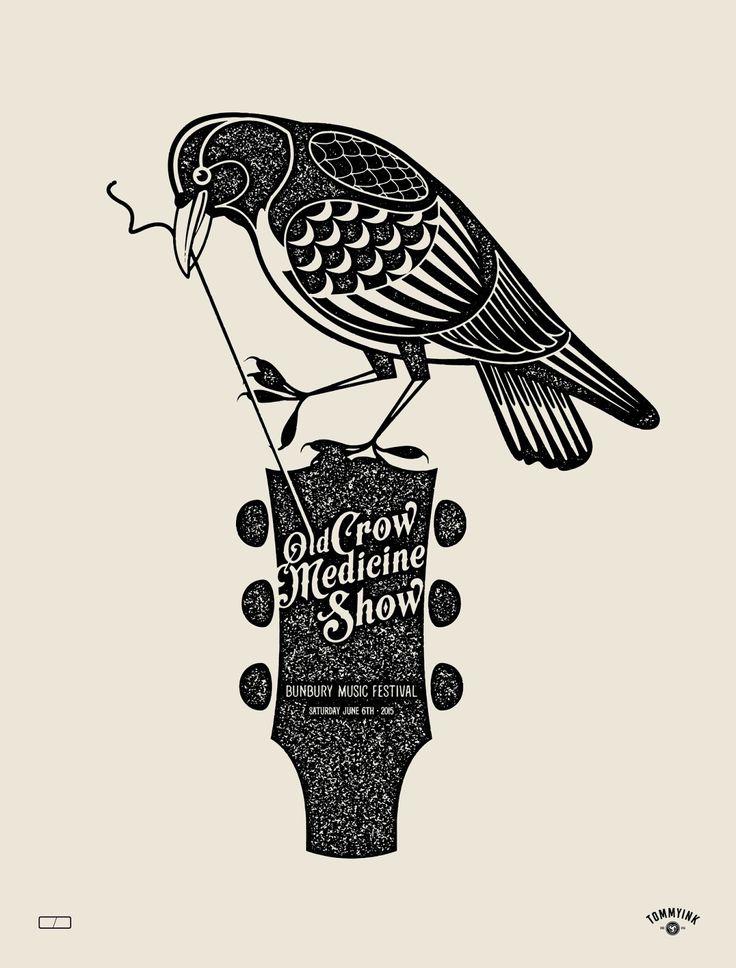 Old Crow medicine show poster Bunbury Music Festival 2015