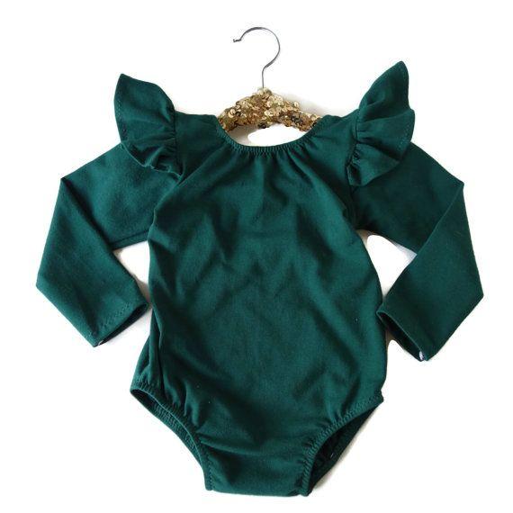 Baby Girl Leotard - Toddler Girl Leotard - Baby Girl Clothes - Toddler Girl Clothes - Baby Green Leotard - Toddler Leotard - Baby Whimsy
