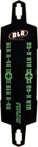 Black Leather Racing Speed Board X-40 Longboard Deck - 10x40. BLR SPEED BOARD X-40 DECK-10x40/31.6wb.