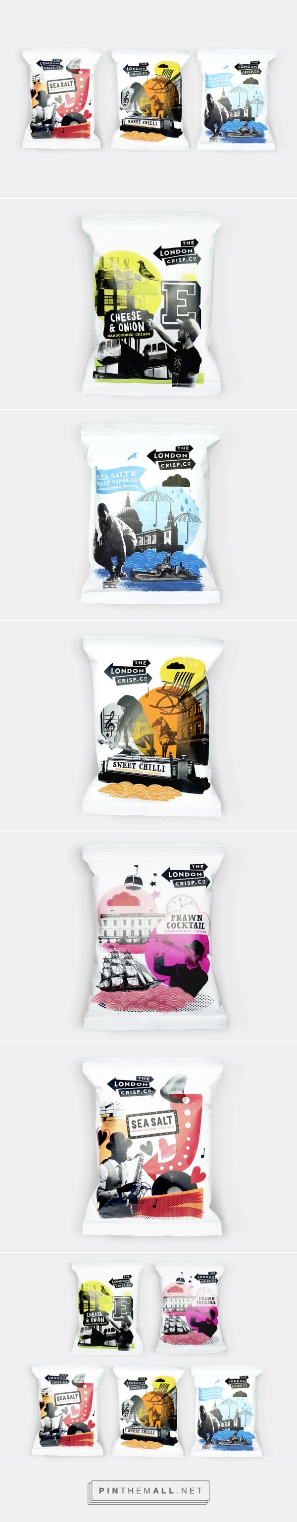 Packaging for The London Crisp Co. by B&B Studio