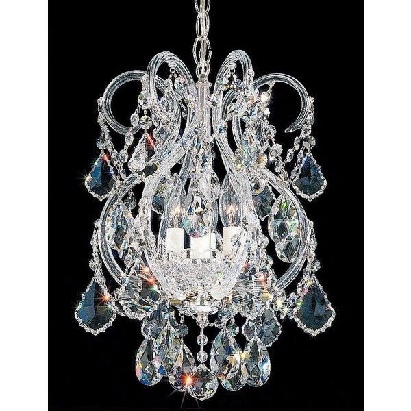 """Schonbek Olde World Collection 11"""" Wide Crystal Pendant ($1,340) ❤ liked on Polyvore featuring home, lighting, ceiling lights, chandeliers, glitter lamp, crystal chandelier lighting, schonbek chandelier, old world chandelier and crystal chandelier light"""