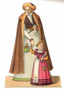 Polish garb.  I love the trim on the little girl's dress