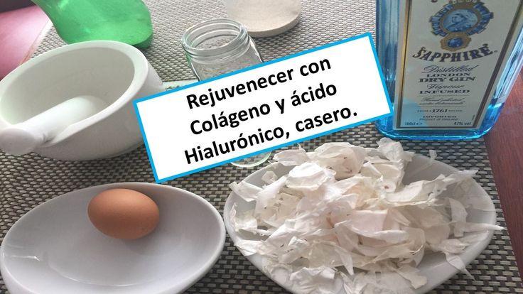 Rejuvenecer  Colágeno y ácido hialurónico, casero, en membranas de huevo