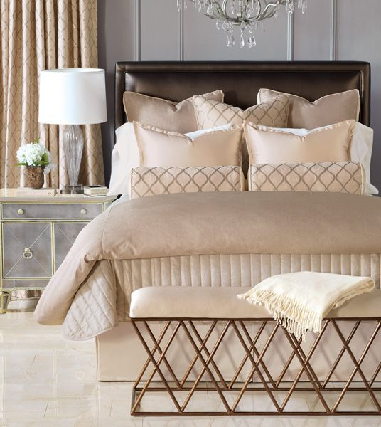 luxury bedding by eastern accents bardot collection oh and check out the adorable side table too