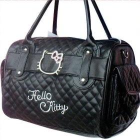 black Hello Kitty handbag.. handbags.. designer handbags: Kitty Handbags, Shoulder Bags, Hellokitti Totebag, Design Handbags, Totes Bags, Exclusively Handbags, Kitty Shoulder, Hello Kitty, Bags Totes