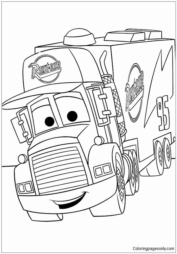 Online Coloring Pages Disney Inspirational Disney Cars Mack Coloring Page Free Coloring Pages Li Cars Coloring Pages Disney Coloring Pages Truck Coloring Pages