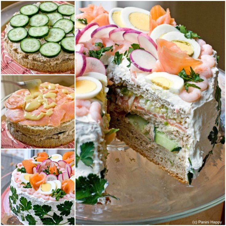 Swedish Sandwich Cake: This would be ideal for a party at any time of year and absolutely delightful for serving up on the holidays