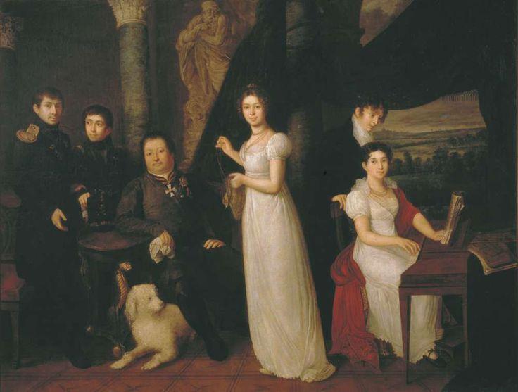 Семейный портрет графов Морковых. 1813 - Тропинин Василий Андреевич