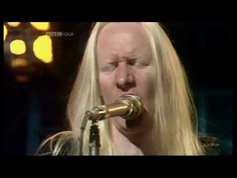 """Johnny Winter in his rock hey day...1974 """"Jumpin' Jack Flash"""" ~ with Floyd Radford on 2nd guitar."""