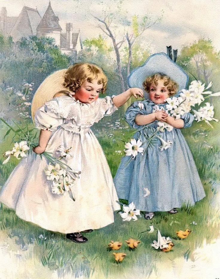 Лисой свадьба, зарубежные открытки о детях