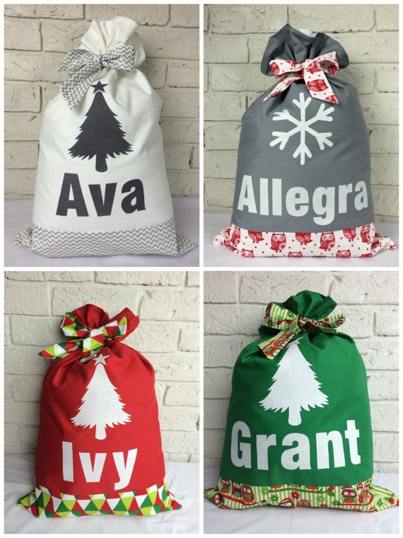 Personalised Santa Sack. Lots of designs to choose by EttyandBoo