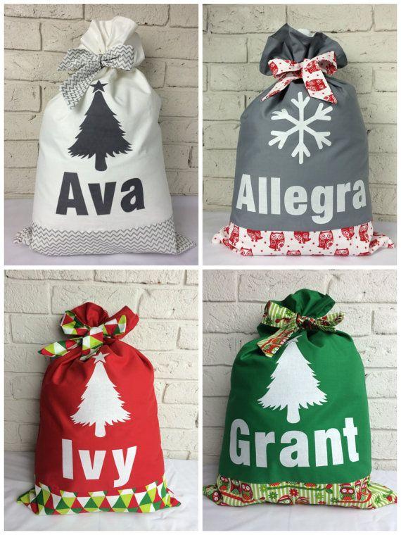 Personalised Santa Sack. Lots of designs to choose by EttyandBoo