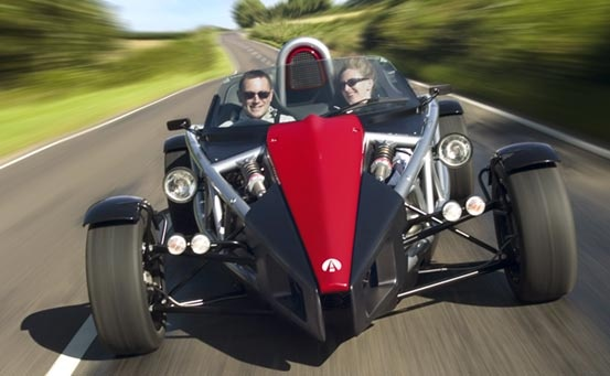 Ariel Atom.  Now this is a car I would like to drive. Check YouTube for some fantastic videos of it in operation.
