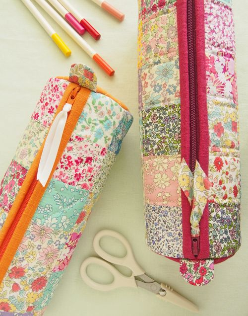 round pencil cases by Pretty By Hand