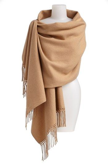 Nordstrom Woven Cashmere Wrap | Nordstrom..... looks heavenly! I wonder if they have it in a different color?..