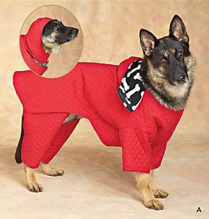 free+pattern+for+dog+raincoat+with+hood | Big dog clothing patterns for the hard to find XL dog clothes