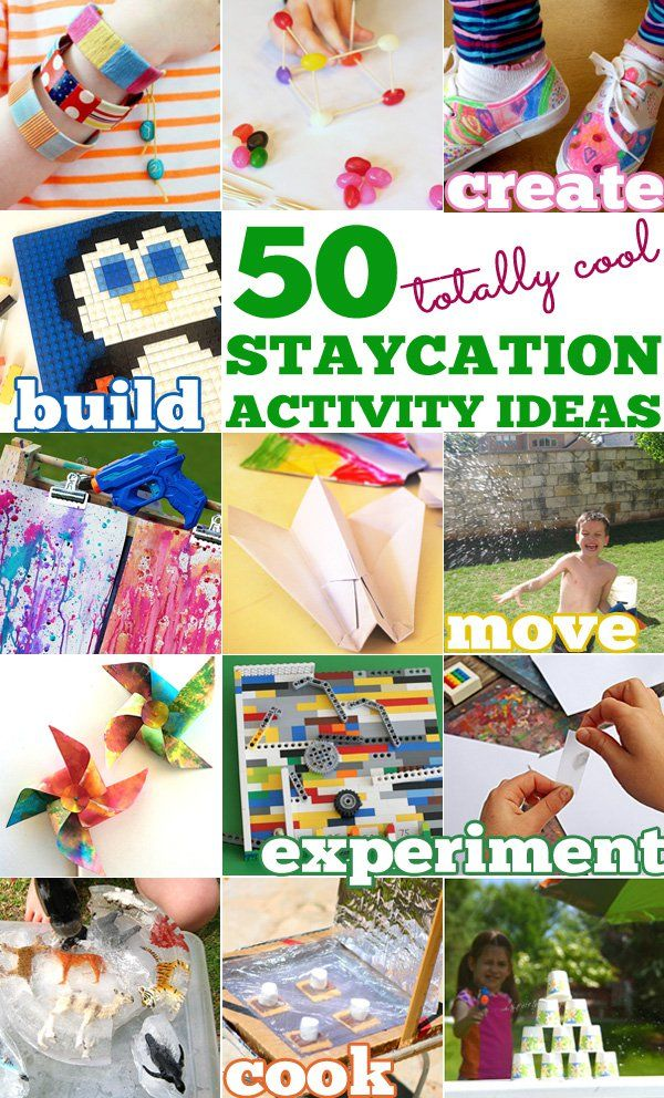 50 totally cool staycation activity ideas - great for Summer vacation and Winter break
