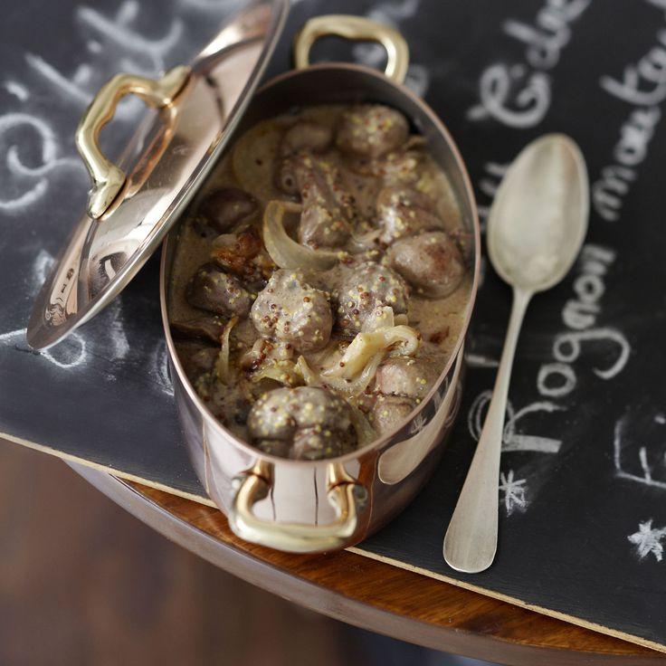 Découvrez la recette Rognon de veau à la moutarde sur cuisineactuelle.fr.