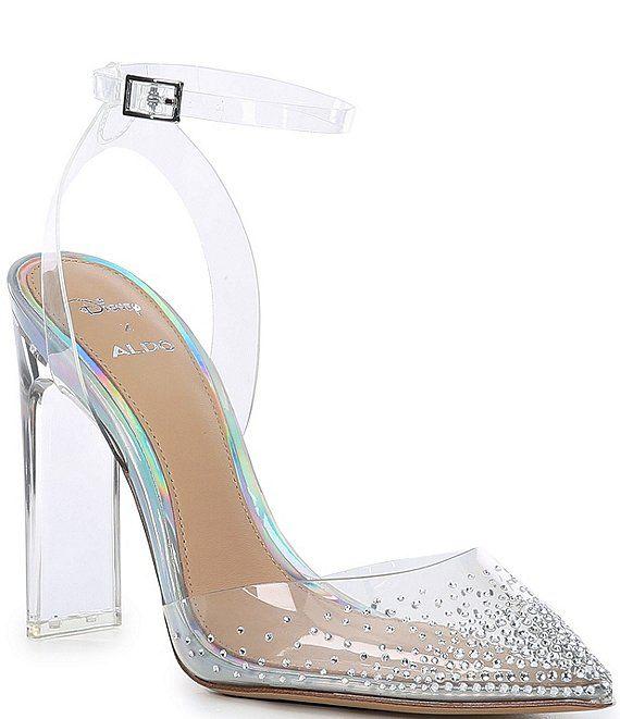 Aldo X Disney Glass Slipper Cinderella Pointy Toe Pumps Dillard S Glass Heels Heels Pointy Toe Pumps