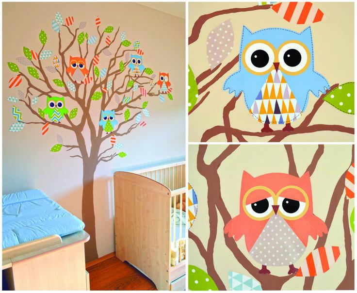 Bálint babaszobája Bagoly faldekor Baba szoba Baby room Owl wall decor