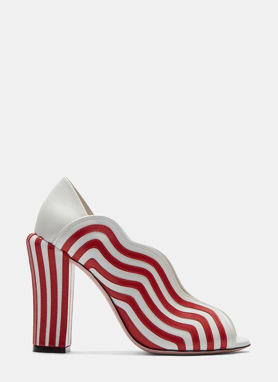 Fendi Candy Striped Heeled Sandals | LN-CC
