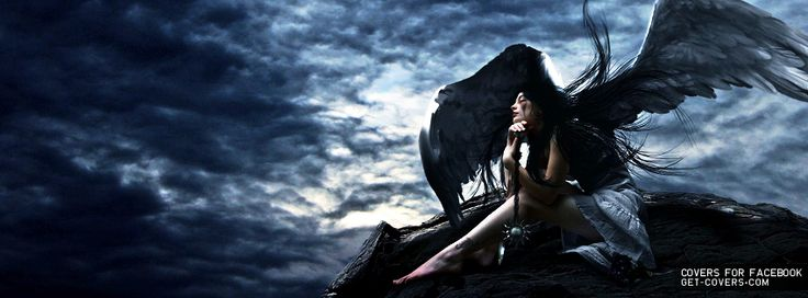 Dark Fantasy Facebook Covers: Get This Goth Angel Facebook Covers For Your Profile From